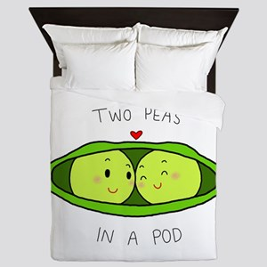 Two Peas in a Pod Queen Duvet