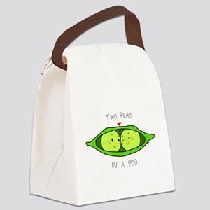 Two Peas in a Pod Canvas Lunch Bag