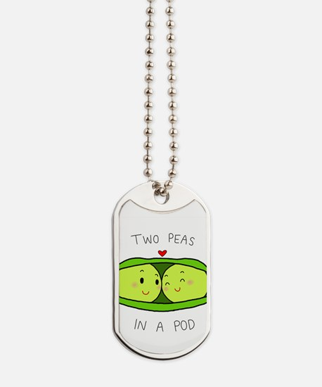 Two Peas in a Pod Dog Tags
