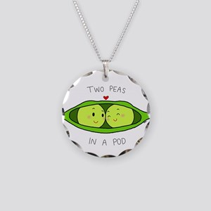 Two Peas in a Pod Necklace Circle Charm
