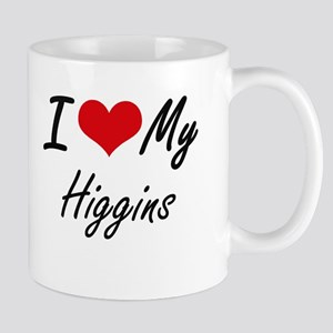 I Love My Higgins Mugs