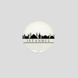 skyline istanbul Mini Button