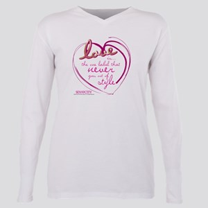 SATC Love Is The Thing Plus Size Long Sleeve Tee