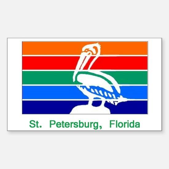 St. Petersburg FL Flag Rectangle Decal
