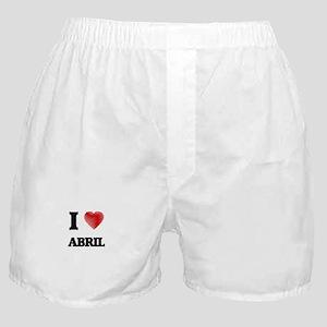 I Love Abril Boxer Shorts