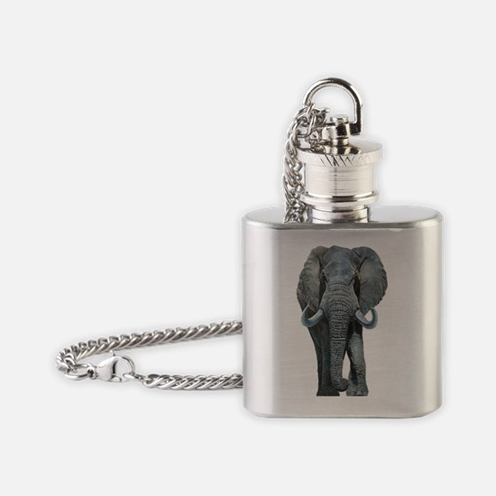 Cute Dad elephant Flask Necklace