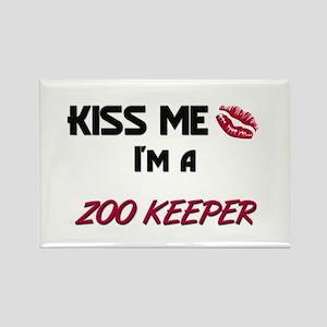 Kiss Me I'm a ZOO KEEPER Rectangle Magnet