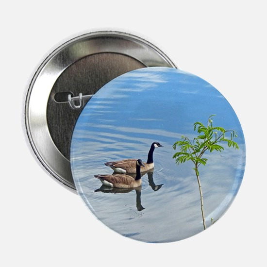 """Swimming Geese 2.25"""" Button (10 pack)"""