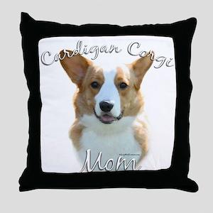 Cardigan Mom2 Throw Pillow