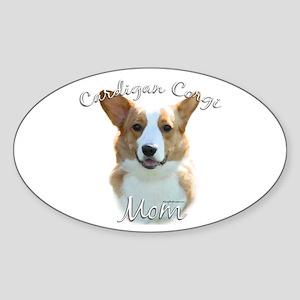 Cardigan Mom2 Oval Sticker