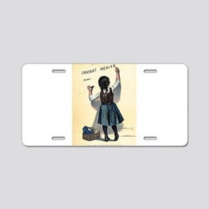 Vintage poster - Chocolat M Aluminum License Plate