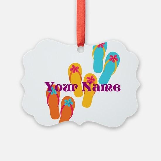 Personalized Flip Flops Ornament