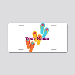 Personalized Flip Flops Aluminum License Plate