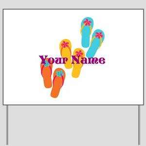 Personalized Flip Flops Yard Sign