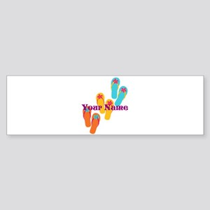 Personalized Flip Flops Bumper Sticker