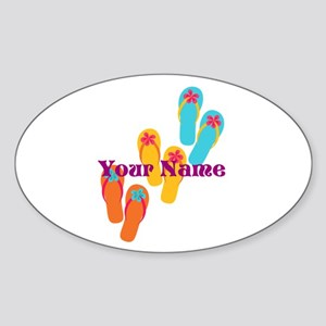 Personalized Flip Flops Sticker