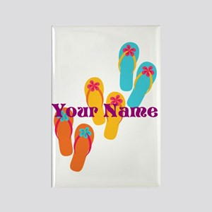 Personalized Flip Flops Magnets