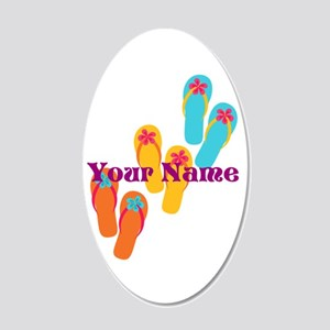 Personalized Flip Flops Wall Decal