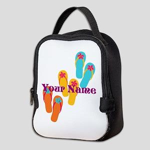 Personalized Flip Flops Neoprene Lunch Bag