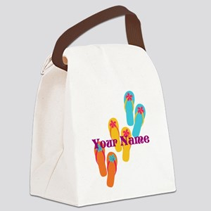 Personalized Flip Flops Canvas Lunch Bag