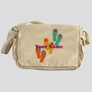 Personalized Flip Flops Messenger Bag