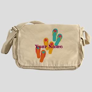 56cc355bec44 Personalized Flip Flops Messenger Bag