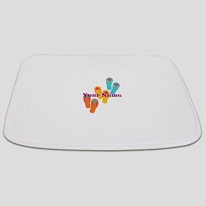 Personalized Flip Flops Bathmat