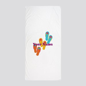 Personalized Flip Flops Beach Towel