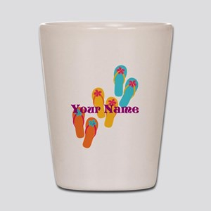 Personalized Flip Flops Shot Glass