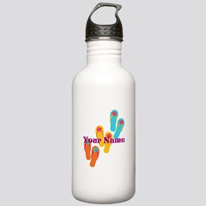 Personalized Flip Flops Water Bottle