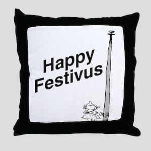 Happy Festivus TM Throw Pillow