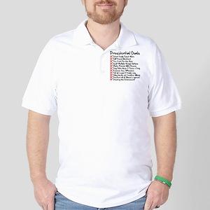 Funny Presidential Goals Trump Golf Shirt