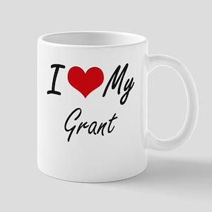 I Love My Grant Mugs