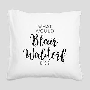Blair Waldorf Square Canvas Pillow