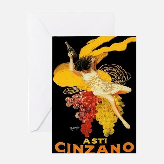 Vintage poster - Asti Cinzano Greeting Cards