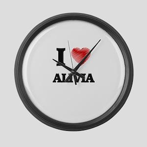 I Love Alivia Large Wall Clock