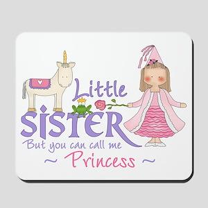 Unicorn Princess Little Sister Mousepad