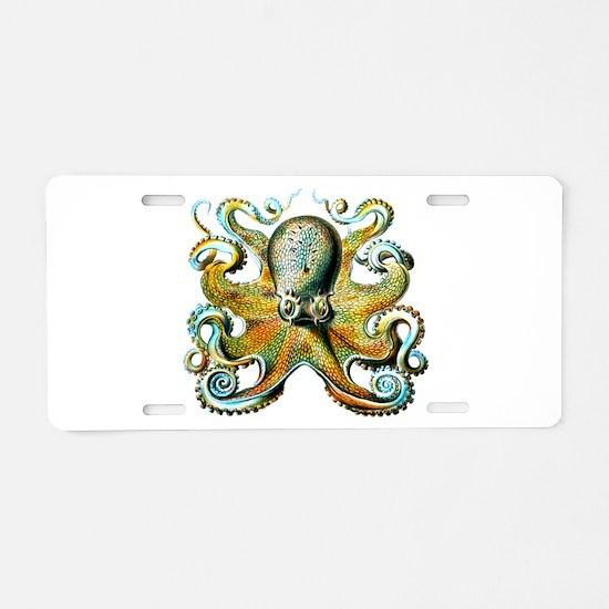 octopus pillow Aluminum License Plate