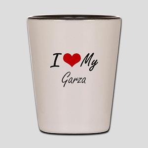 I Love My Garza Shot Glass