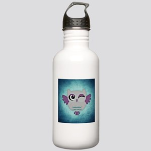 Blue Winking Owl Stainless Water Bottle 1.0L