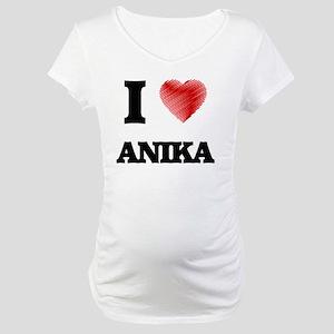 I Love Anika Maternity T-Shirt