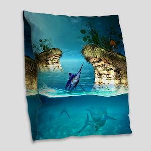 The dreamworld Burlap Throw Pillow