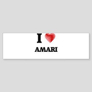 I Love Amari Bumper Sticker
