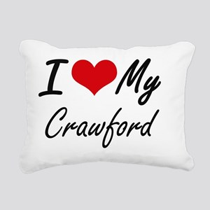 I Love My Crawford Rectangular Canvas Pillow