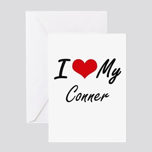 I Love My Conner Greeting Cards