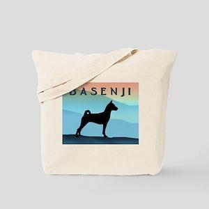 Blue Mountains Basenji Tote Bag