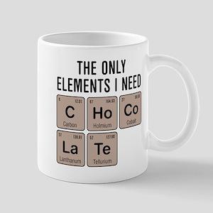 Chocolate Chemistry Elements Mugs