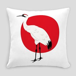 Crane And Sun Everyday Pillow