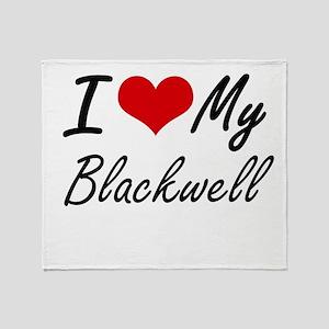 I Love My Blackwell Throw Blanket