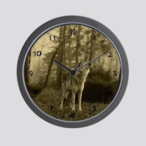 Howling Wolf Wall Clock
